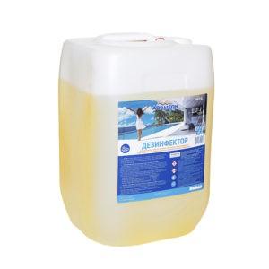 Средство для дезинфекции воды в бассейне Aqualeon жидкий дезинфектор ( 33 кг )