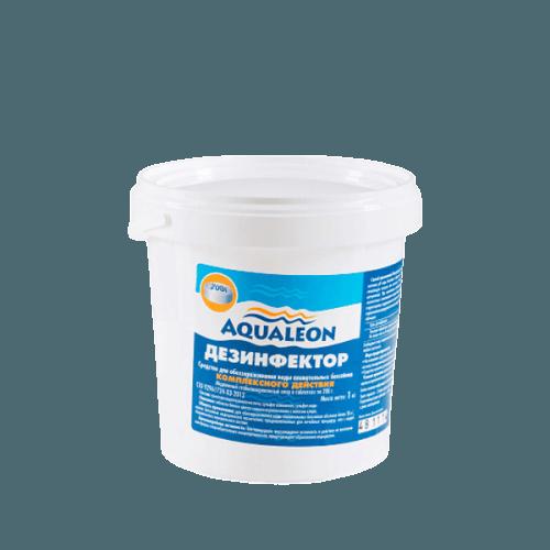 Aqualeon Дезинфектор МСХ КД (медл. стаб. хлор компл. действия) 1кг