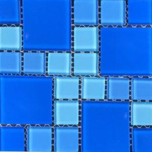 Мозаика стеклянная Aquaviva Cristall Light Blue (23 мм - 48 мм)